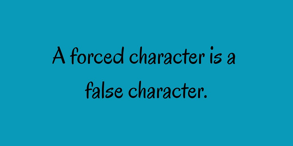 A forced character is a false character-3