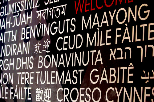 many languages photo